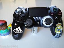 Manette PS4 Customisé à l'aérographe  !!! Dualshock 4 Sixaxis Real Madrid