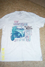 MENS GREY CAMPER VAN T.SHIRT SIZE MEDIUM