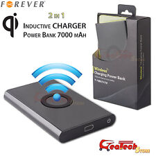Power Bank Wireless 7000mah Carica Batteria Esterna per iPhone 5 5S 6 6S PLUS