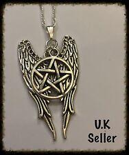Sobrenatural Pentagrama/Pentáculo y Collar de ala de ángel.