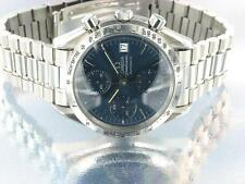 Omega Speedmaster Mens Chronograph Automatic Watch Blue with original Omega Box