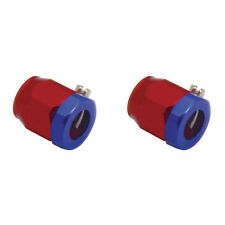 Spectre 2260 Magna Clamp 3/8 ID Red Blue Aluminum Hose End AN8 Fuel Oil Water