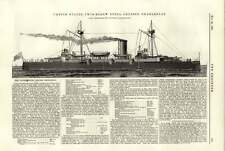 1891 United States Twins Screw Steel Cruiser Charleston