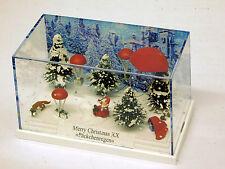 Busch 1/87 HO Christmas Diorama Scene 7655 Annual Release #20 Santa Parachute