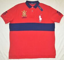 New XXL 2XL POLO RALPH LAUREN Mens Big Pony short sleeve rugby polo shirt red