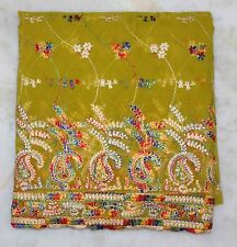 VINTAGE AWESOM DUPATTA LONG STOLE SCARF SEQUIN EMBROIDERY GEORGETTE BRIDAL VEIL""