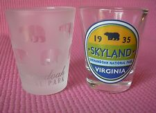 2 Shenandoah National Park Skyland Virginia VA Shot Glass Blue Ridge Glasses