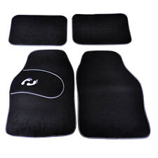 4 Piece Front Rear Black Car Mat Carpet Set Non-Slip Grip Universal Van Mats New