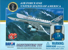 BEST LOCK USA AIR FORCE ONE BOEING 747 CONSTRUCTION TOY 55 PIECE BRICK TOY