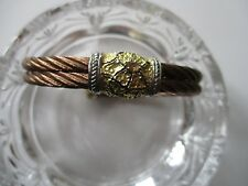 Charriol Stainless Steel Bronze Rope Bracelet With Gold/Silver Accents