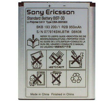Genuine Sony Ericsson BST33 BST-33 Battery FOR K800i,C903,W395,W850i,W880i