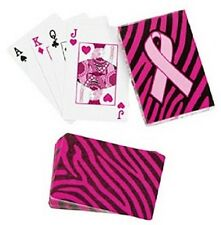 Pink Ribbon Deck of Playing Cards Breast Cancer Awareness Support New