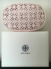 TORY BURCH Cosmetic Case Patent Light Pink Makeup Pouch Toiletry Bag New in Box