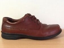 Mens Clarks Shoes Brown Leather Size UK 9 H Extra Wide