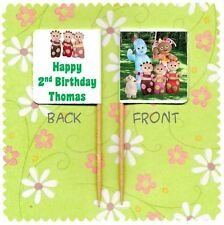 20 PERSONALISED IN THE NIGHT GARDEN BIRTHDAY CUP CAKE FLAG Party Pick Topper
