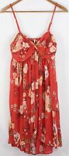 Free People Women's Floral Print Sleeveless Knee Length Dress Size L Large