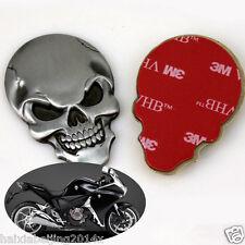 Moto Fairing Metal Skull Demon Bone Badge Emblem Metal Decal Sticker For Honda