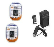 2 Batteries + Charger for Panasonic DMC-FT10EBR DMC-FT10EBK DMC-TS10 TS10K TS10R