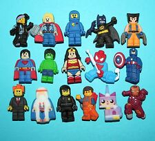 Lego Movie Shoe Decorations 16 Cake Toppers Party Favours Toys The Avengers NEW