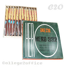 HERO 332 Fountain Pen Lot of 12 Pens Ink Color Empty Refillable Executive Luxury