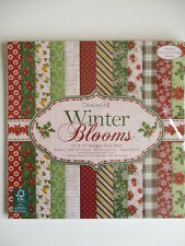 "6x6"" Scrapbook Papers Dovecraft Winter Blooms Full Pack 72 sheets  Christmas"