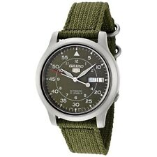 Seiko 5 Military SNK805 K2 Automatic Green Dial Nylon Strap Watch Meet ups Ship