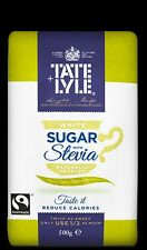 TATE & LYLE LIGHT AT HEART WHITE SUGAR &  STEVIA BLEND  500G