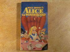 ALICE IN WONDERLAND THE CLASSICS SLIPCOVER VHS 1ST RELEASE 5/86 WALT DISNEY'S