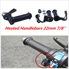 "Universal Motorcycle Quick Heated Hot Warm Hand Grips Handlebars Black 7/8"" 22mm"