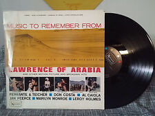 Music to Remember from Lawrence of Arabia LP V/A Marilyn Monroe Some Like It Hot