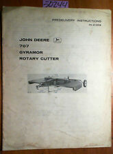 John Deere 707 Gyramor Rotary Cutter Predelivery Instructions Manual PDI-W13051W