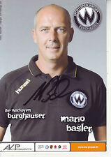 FOOTBALL carte trainer MARIO BASLER équipe SPORTVEREIN WACKER BURGHAUSEN signée