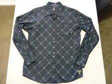 045 MENS NWOT ELEMENT BLACK / GREY PATTERN L/S SHIRT MEDM $100.