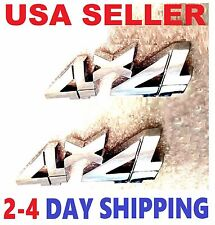X2 Chrome 4 X 4 EMBLEM 4X4 old car PACKARD HUDSON STUTZ TRIUMPH logo decal BADGE