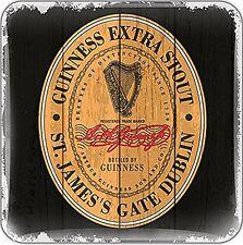 Guinness Label epoxy fridge magnet  75mm x 75mm    (sg)