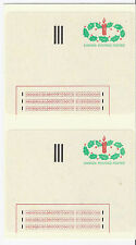 1983 Canada Experimental Labels 1-ST Stick N Tick - Strip of 6, Unused, Xmas*