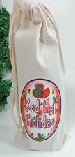 WINE BOTTLE GIFT BAG  HOLIDAY CHRISTMAS PARTY  FOR RED HAT LADIES OF SOCIETY