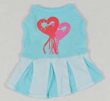 Cute dog dresses and T-Shirts cute prints, stretchable, pink, blue, XS, S, M, L