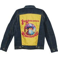 JIMI HENDRIX OFFICIALLY LICENSED DENIM HUGE PATCH JACKET ADULT XL ARE YOU EXPERI