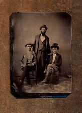 Looks They Could Be A Rowdy Bunch ~ Civil War Era ~ Vintage Tintype Photo