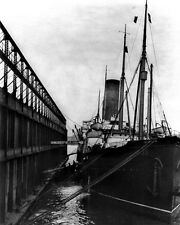 New 8x10 Photo: SS CARPATHIA at Dock in New York City after RMS TITANIC Disaster