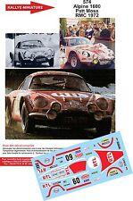 DÉCALS 1/18 réf 574 Renault Alpine 1600  Patt Moss Monte Carlo 1972