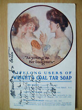 Postcard- As Young As Her Daughters- Life Long Users of: WRIGHT'S COAL TAR SOAP