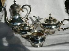 ensemble service à café ou thé en métal argenté belle état