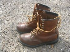 Vintage BROWN RED WING SUPER SOLE FARM WORK CHORE FIELD HUNTING BOOTS SIZE 6.5 D
