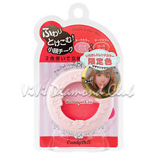 JAPAN Candy Doll Cheek Color Duo 3D Small Face Highlight Blush ROSE PINK LIMITED