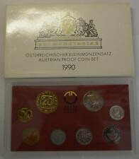 GN333 - Österreich Kursmünzensatz 1990 PROOF KMS Original Coin Mint Set