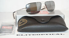 New Authentic RAY BAN RAYBAN Aviator Silver/Gray RB3497 003/6G 59 mm