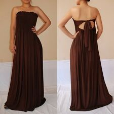 NWT Sexy Women Chocolate Strapless Summer Maxi Dress Casual Cocktail Party Sz XL