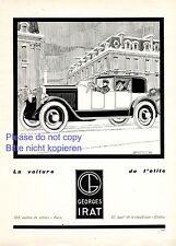 Georges Irat Reklame 1925 Frankreich Paris Elite sehr seltene Werbung ad